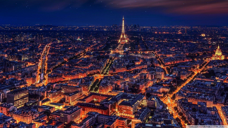 Paris at Night Wallpapers