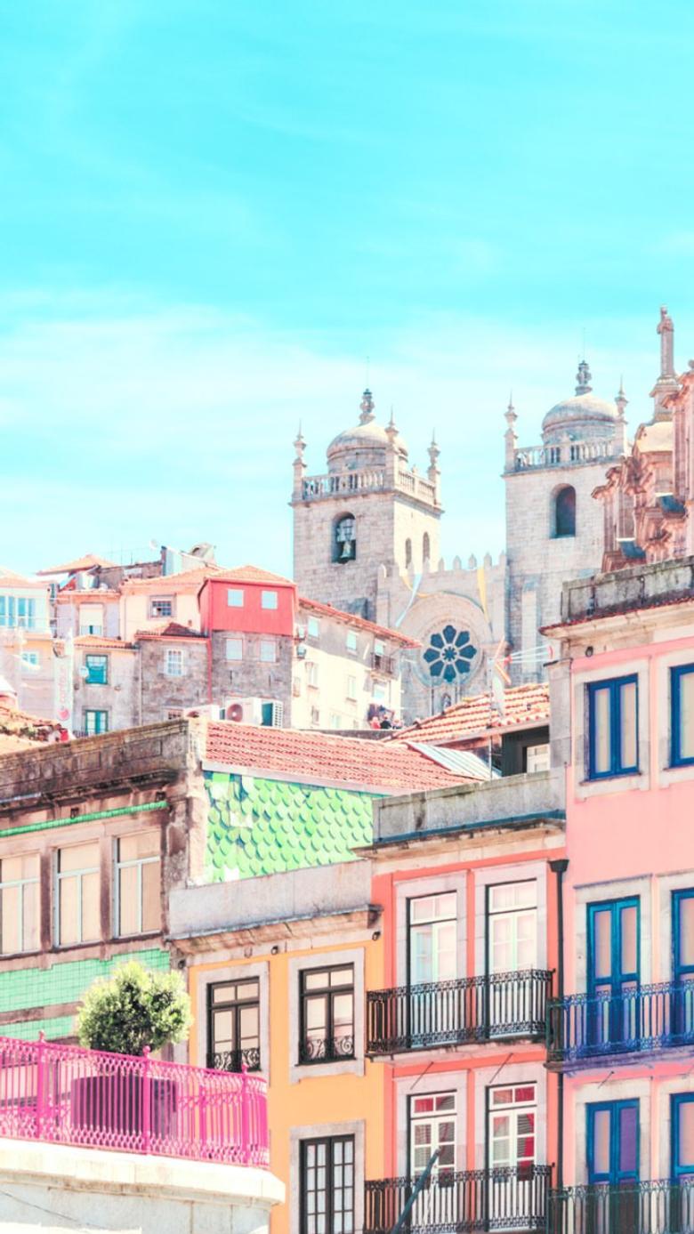 Matt crump photography iPhone wallpapers Pastel Lisbon Portugal