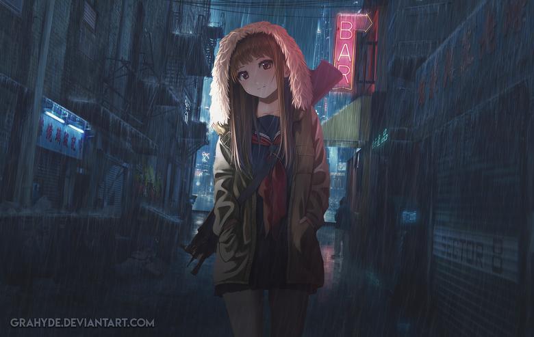 Cyberpunk Anime Girl
