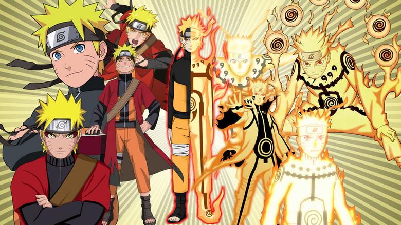 Naruto Sage and Bijuu mode