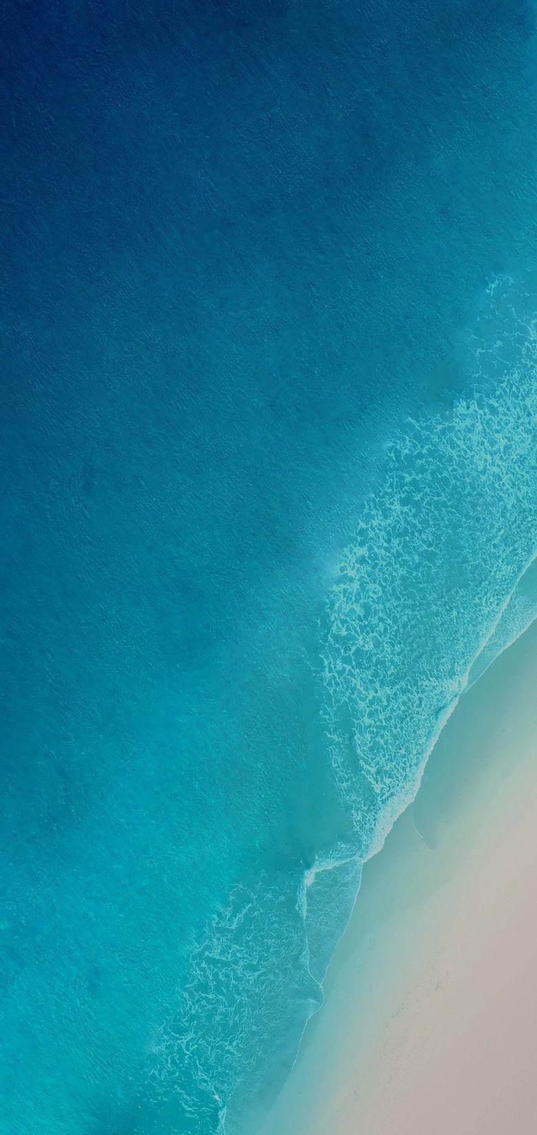 iOS 12 iPhone X Aqua blue Water ocean apple wallpaper iphone