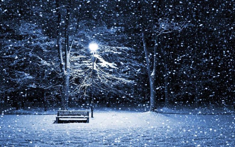 Snow Nigth Winter Season Wallpapers