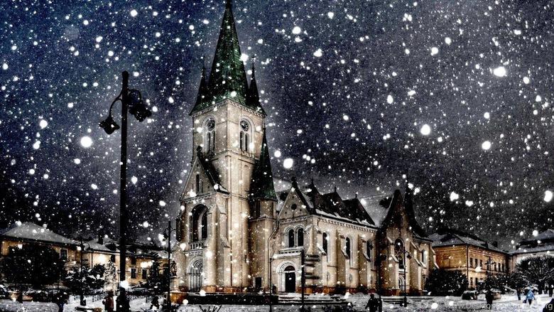 Snow City Winter Season HD Wallpapers Desktop Backgrounds