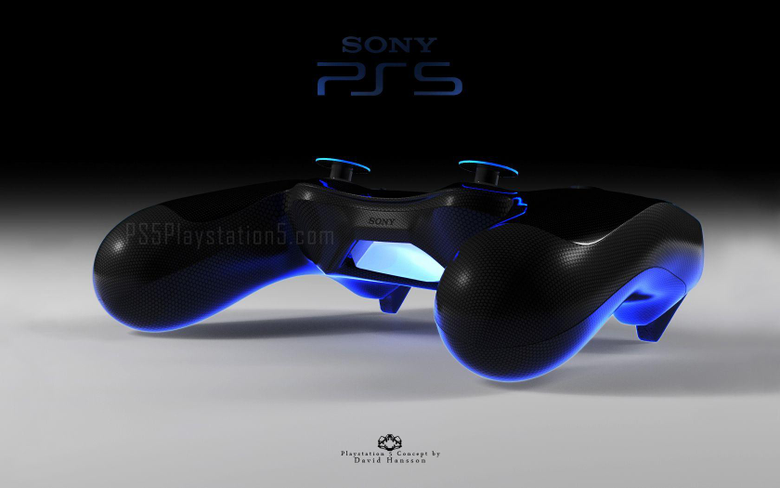 Playstation 5 Console and Controller by David Hansson
