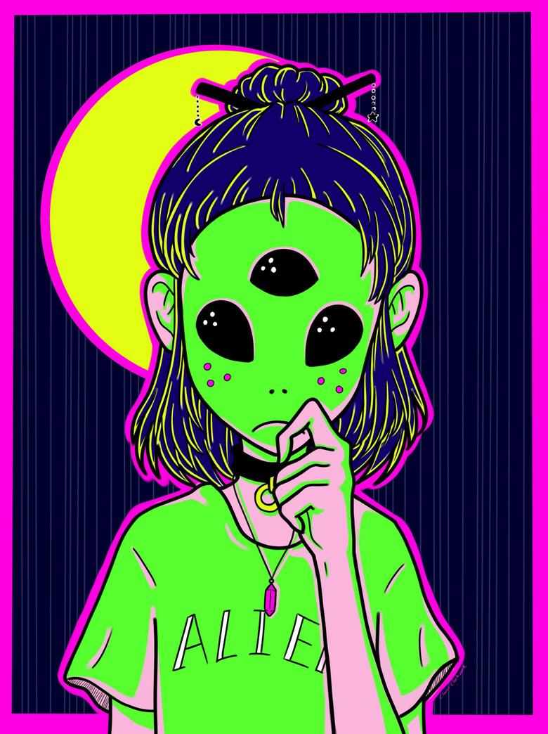 Digital Illustration by ClaireClockwork Alien