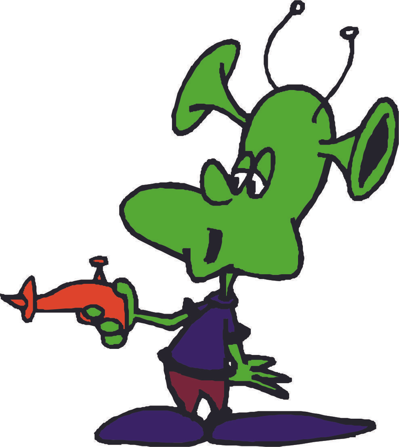 Cartoon Alien Image clipart