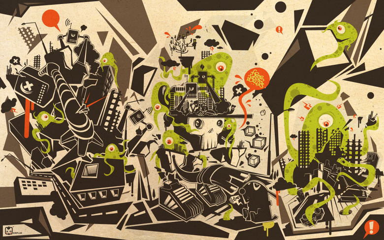 cartoons abstract Alien Aliens sf co ua
