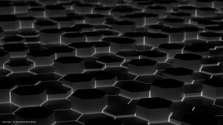 d black hexagon cells perspective hd widescreen wallpapers 3d