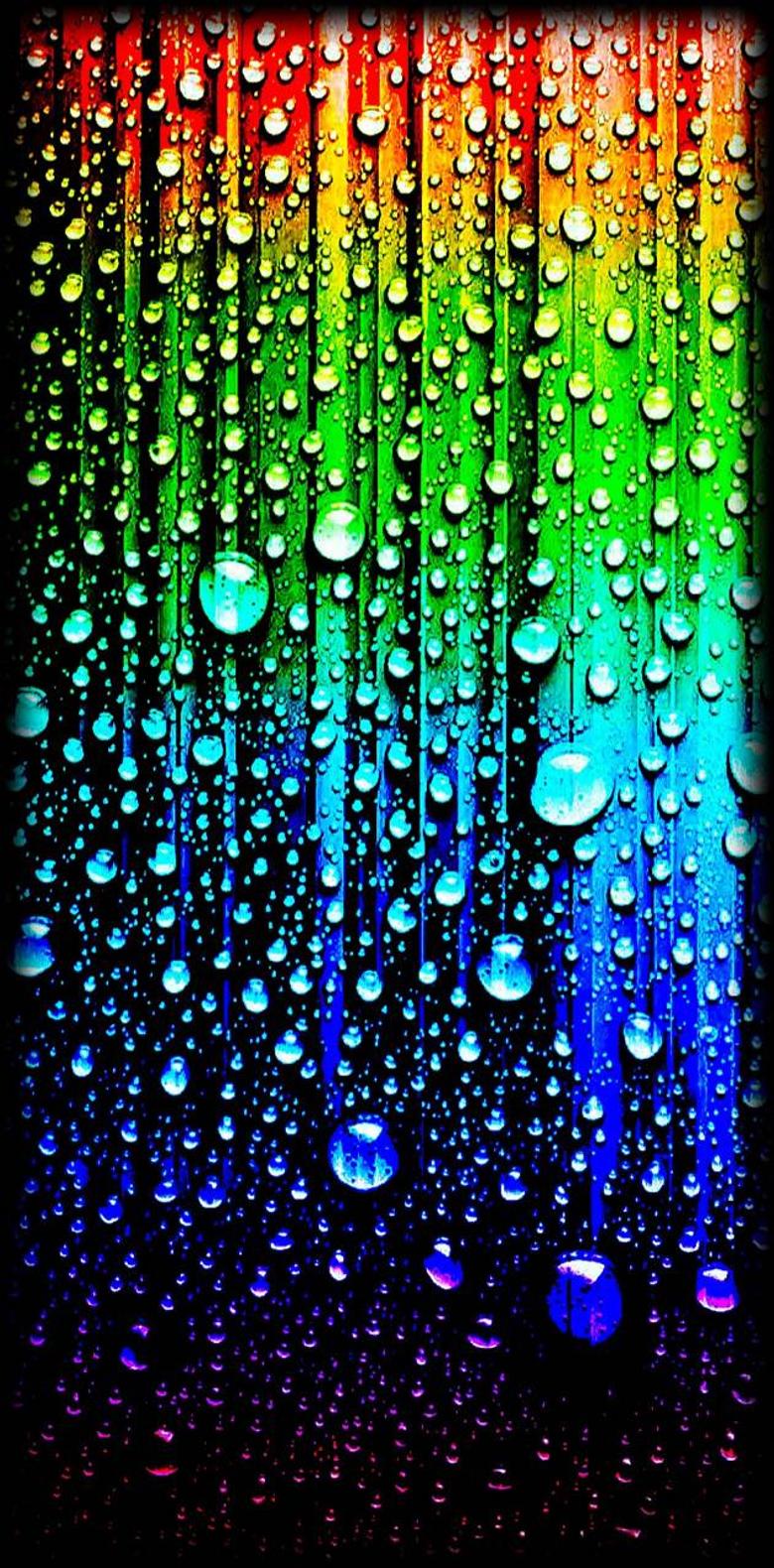 rainbow rain drops wallpapers by zedge