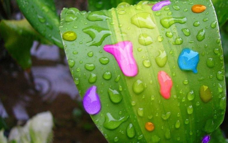 Colourful Raindrops
