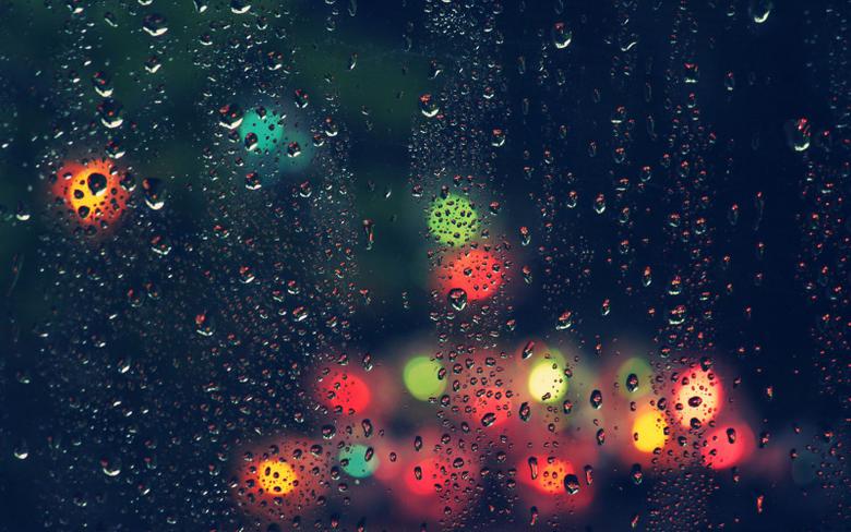 colour light raindrops on mirror wallpaperwebneel