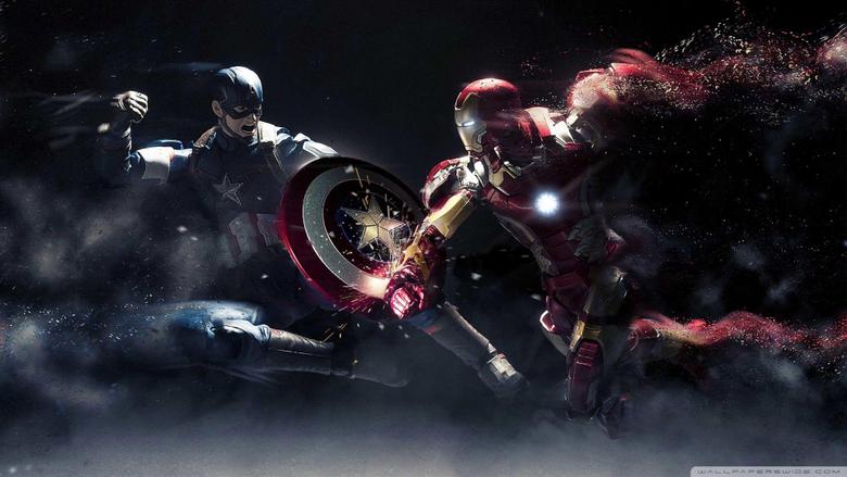 Iron Man Desktop Wallpapers Captain America Vs Iron Man 4K Hd