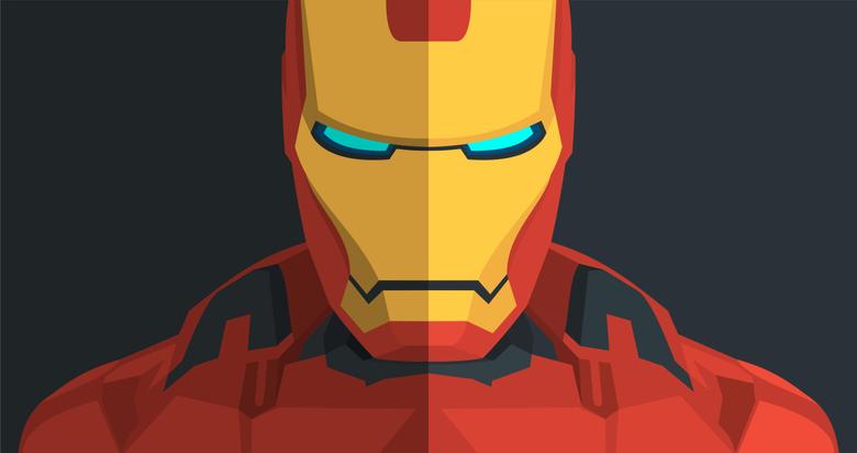 Wallpapers Iron Man Minimal HD 4K Creative Graphics