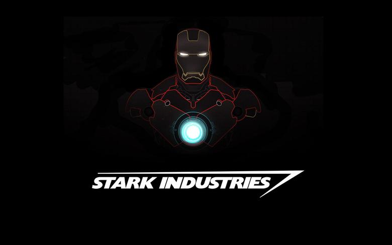 Wallpapers Iron Man Stark Industries Minimal Dark HD 5K