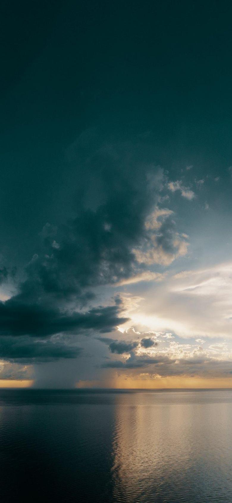 True Nature Calm Ocean in Sunset Wallpapers iPhone Xr 11