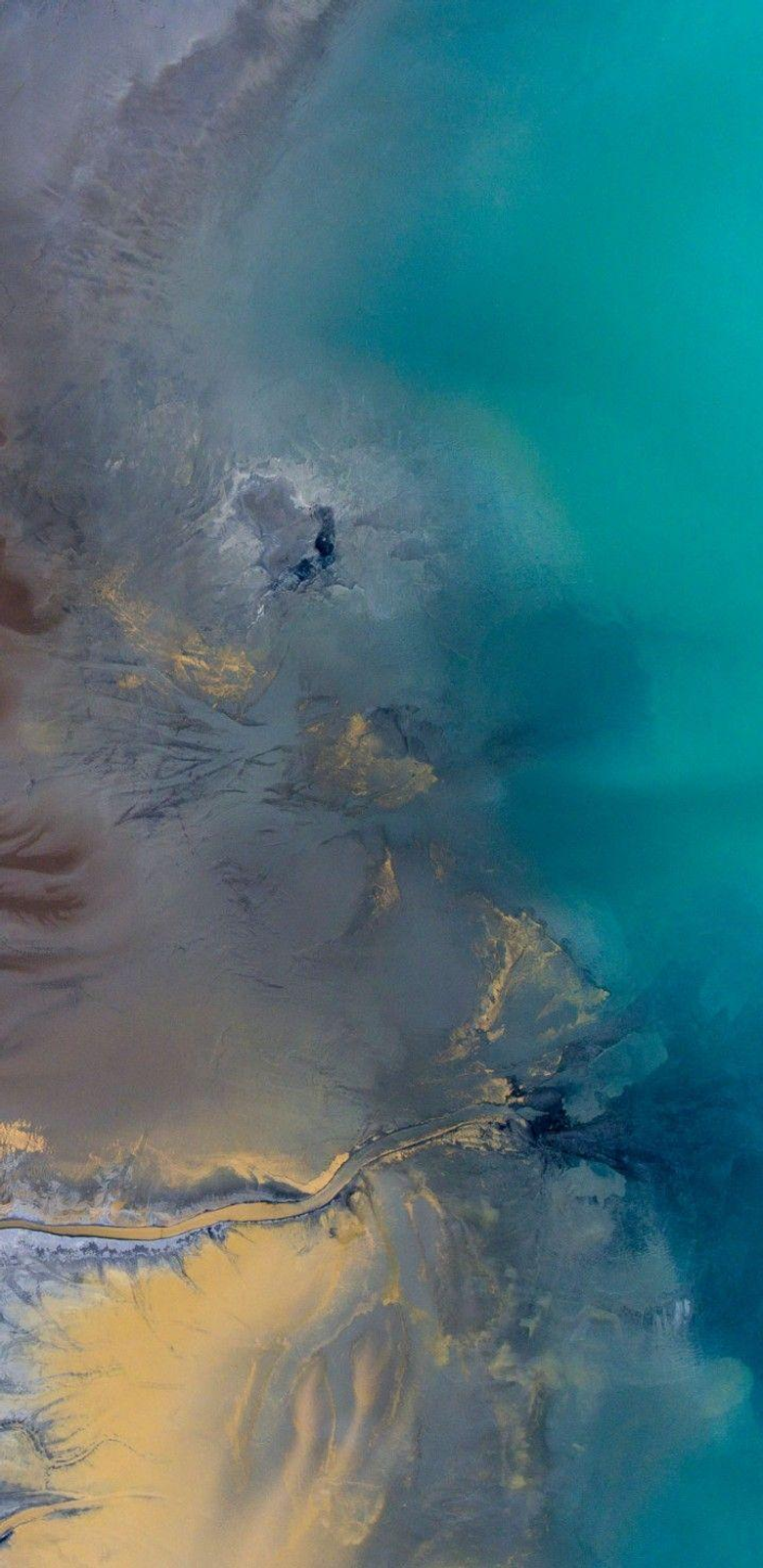 iOS 11 iPhone X Aqua blue Water beach wave ocean apple