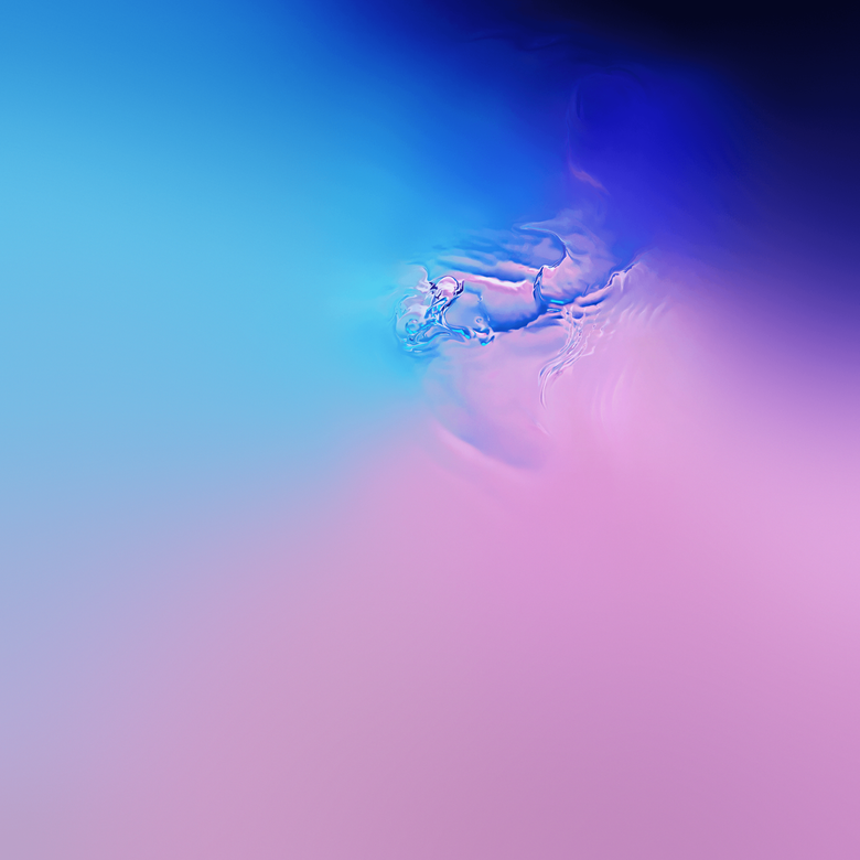 Samsung s official Galaxy S10 wallpapers all try really hard to hide
