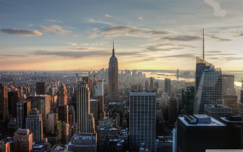 Aerial View Of Empire State Building HD desktop wallpapers High
