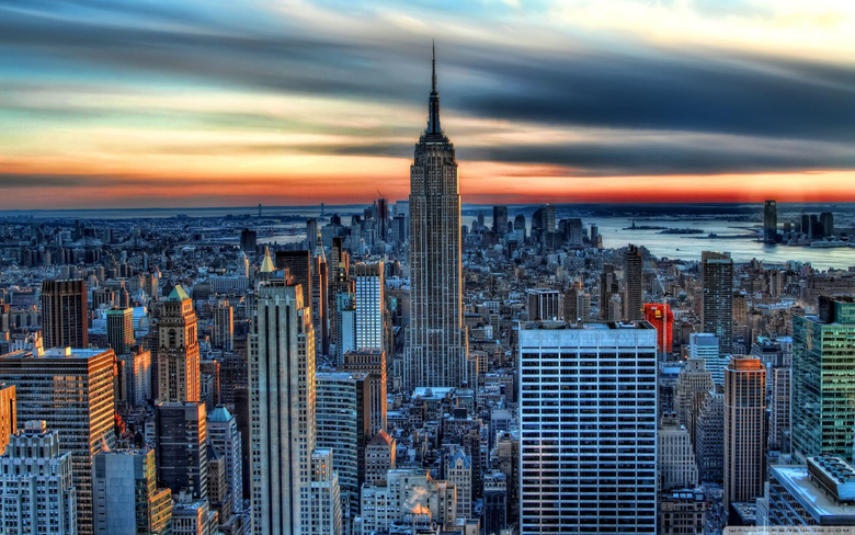Empire State Building HDR HD desktop wallpapers High Definition