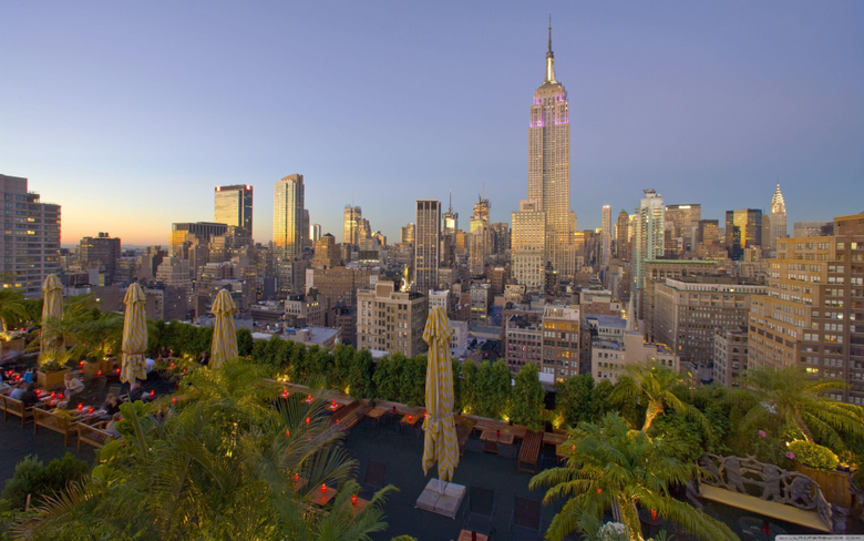 Empire State Building At Sunset HD desktop wallpapers Fullscreen