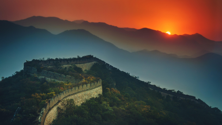 Great Wall Of China At Sunset 4K UltraHD Wallpapers