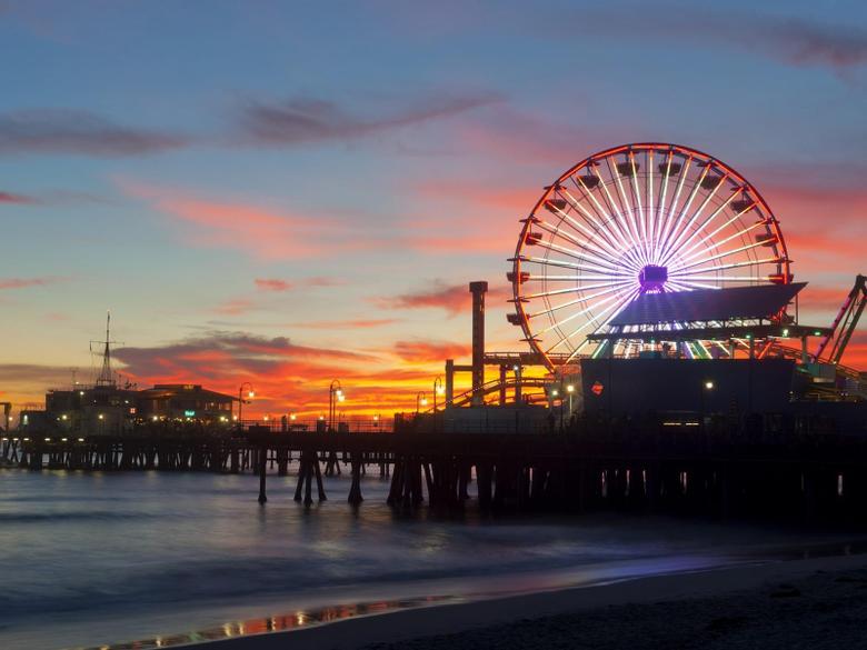 Sunset pier california santa monica wallpapers