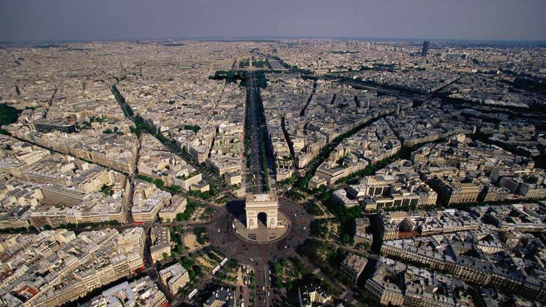 Arc De Triomphe Aerial