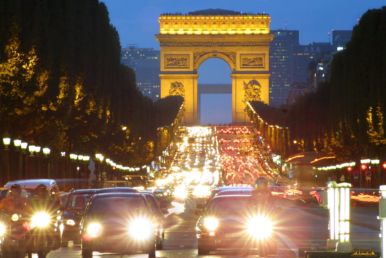 Arc de triomphe champs elysà es paris architecture cars wallpapers