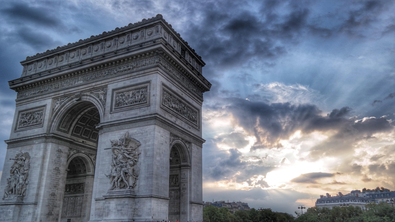 Grey Arc De Triumph Stock Photo