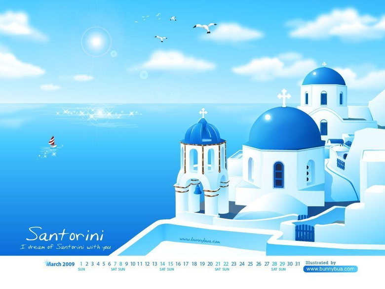 The Island Santorini Hd Wallpapers Car Pictures