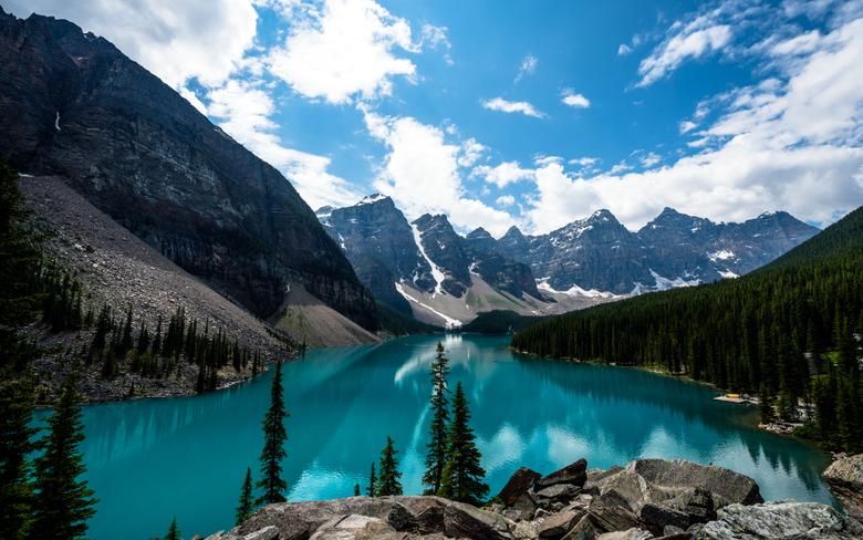 Wallpapers Moraine Lake Lake Louise Banff National Park Canada