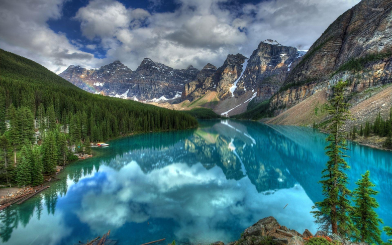 Banff National Park Wallpapers Turquoise Lake In Banff National Park