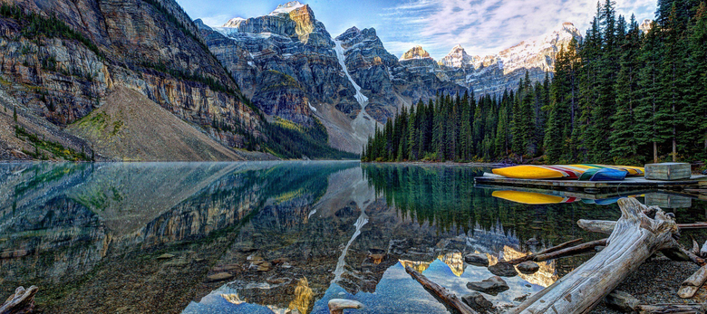 Moraine Lake Banff National Park lake Mountains wallpapers