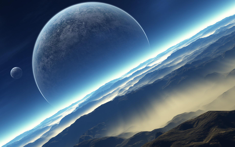 D Space Scene Wallpapers