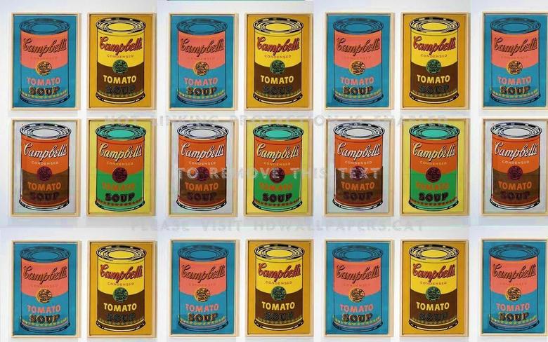 warhol campbells soup andy pop art sixties