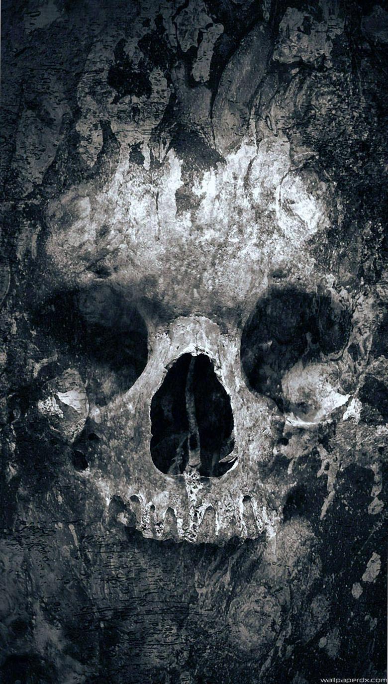 Quake Skull Lockscreen Full HD Android Wallpapers