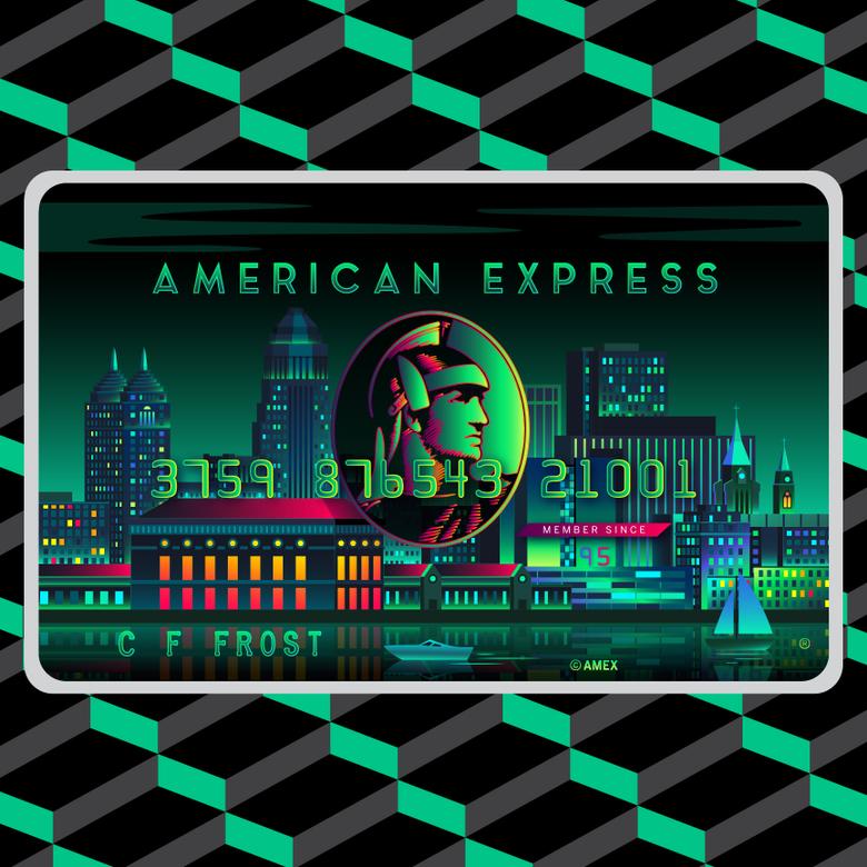 American Express Card Art A H A Design