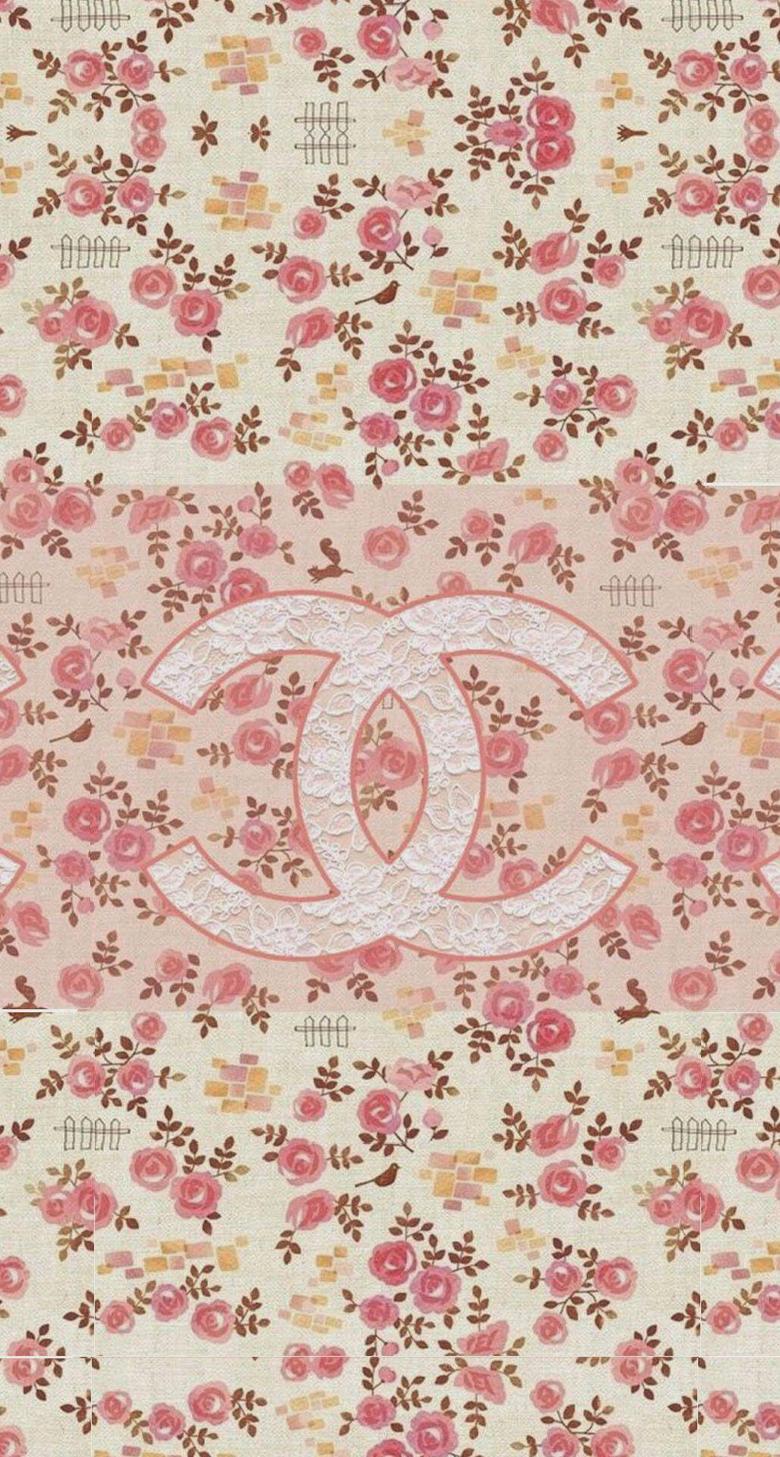 Coco Chanel Flowers Pattern Logo iPhone 6 Plus HD Wallpaper jpg