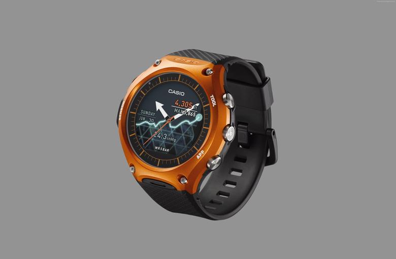 Wallpapers Casio WSD f10 smart watch CES 2016 Hi