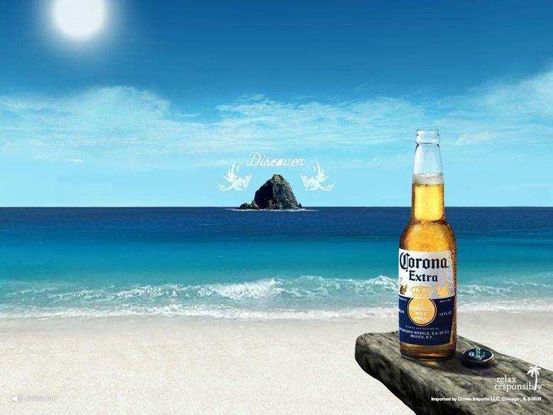 Corona Extra Alcohol Drink Beach Image HD Wall Wallpapers