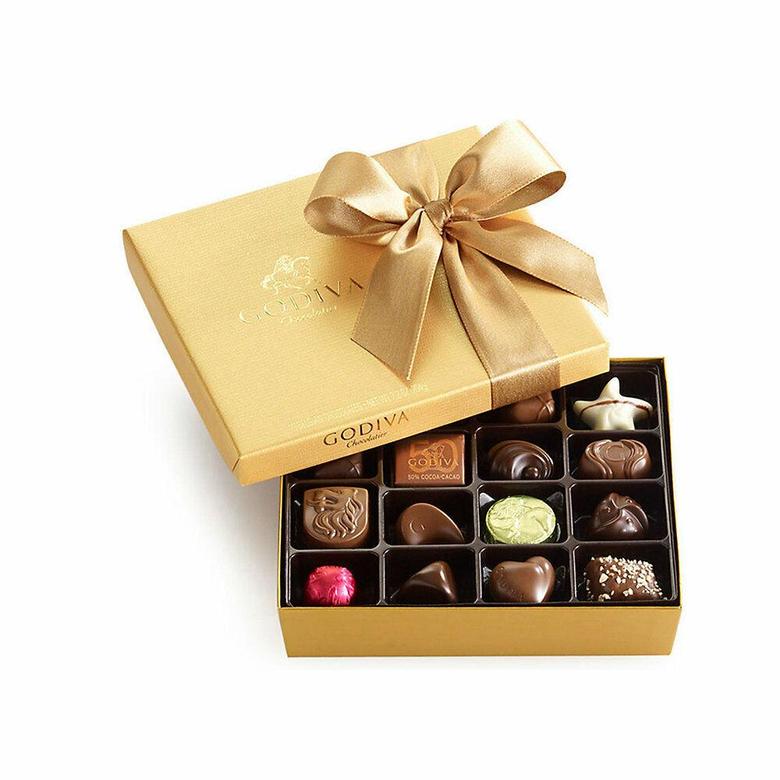 Godiva Chocolatier Classic Gold Ballotin Chocolate Perfect Hostess