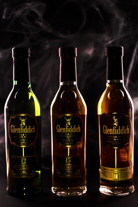 three glenfiddich bottle image