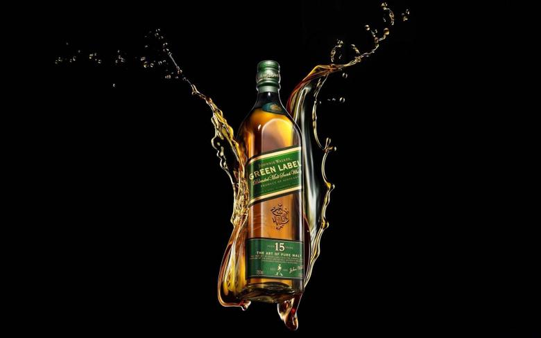 x1200 Wallpapers johnnie walker green label whiskey bottle