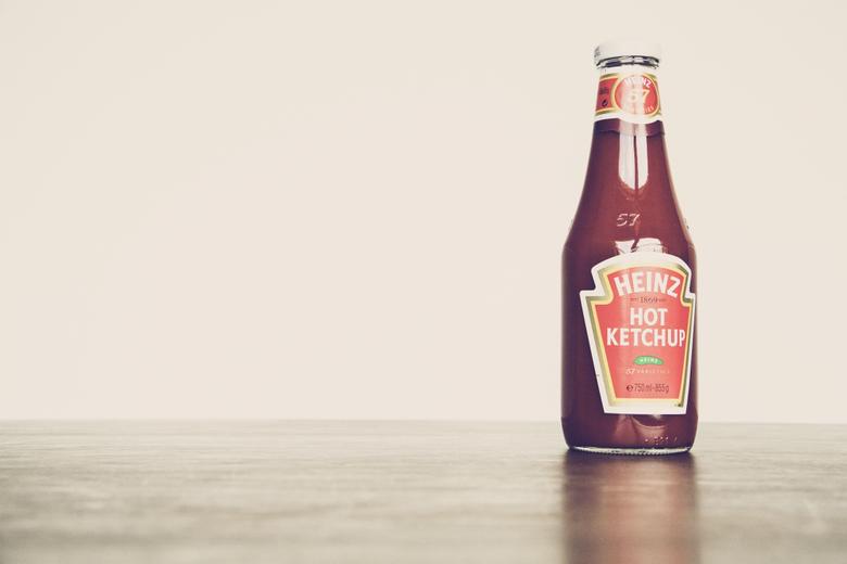 heinz hot ketchup bottle image