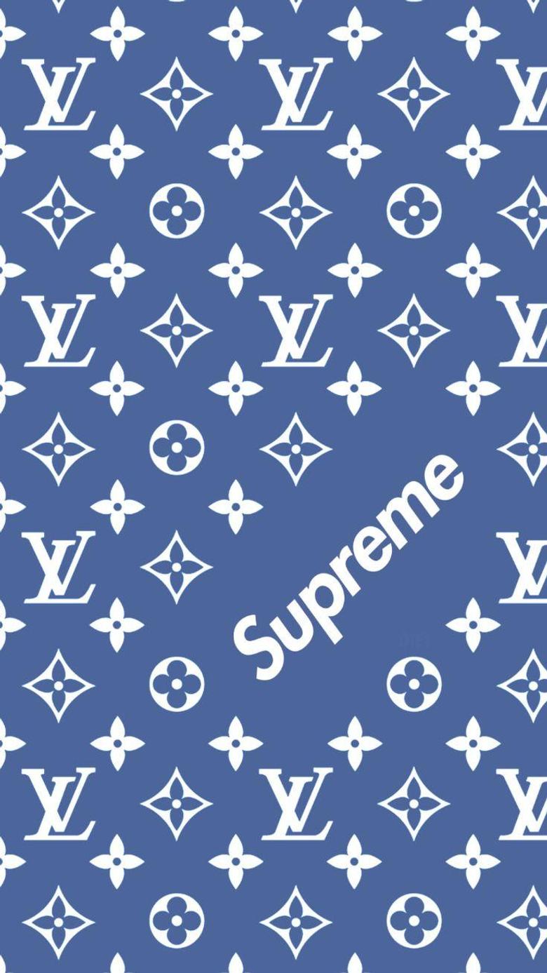 Louis Vuitton x Supreme pattern wallpapers