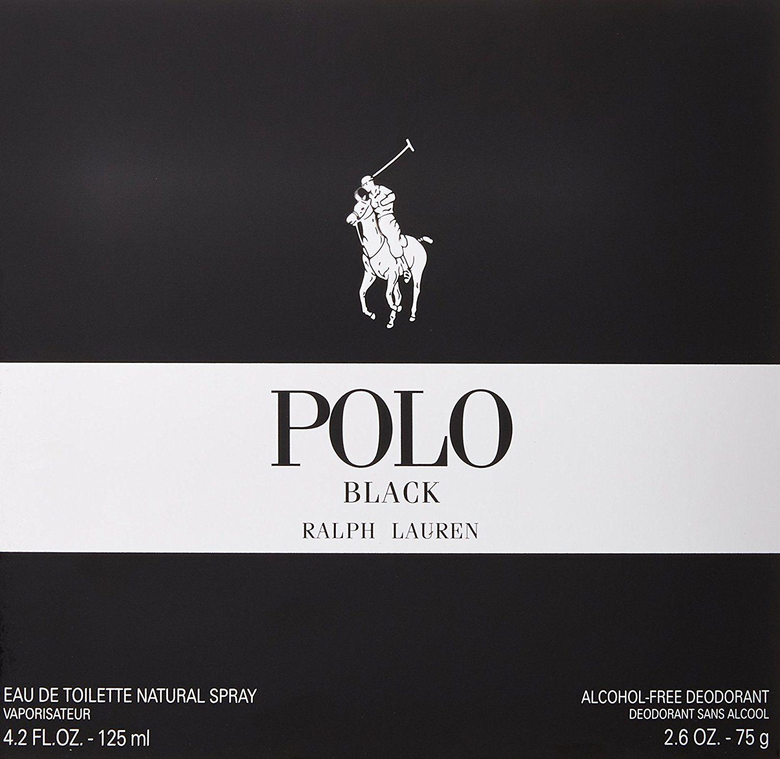 Ralph Lauren Polo Black for Men Eau De Toilette Natural Spray 1 3