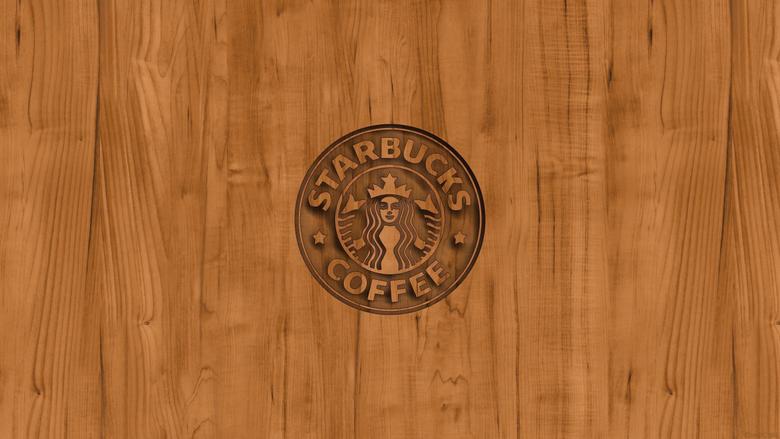 starbucks coffee logo wood