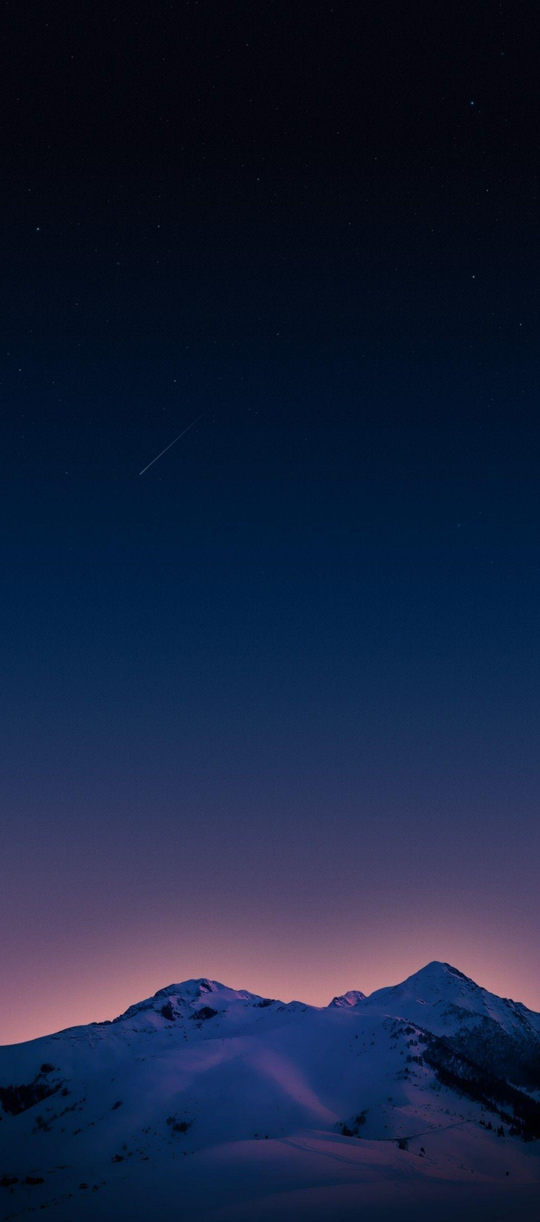 iPhone x iPhone 8 ios Pixel 2 xl mountain sunset purple