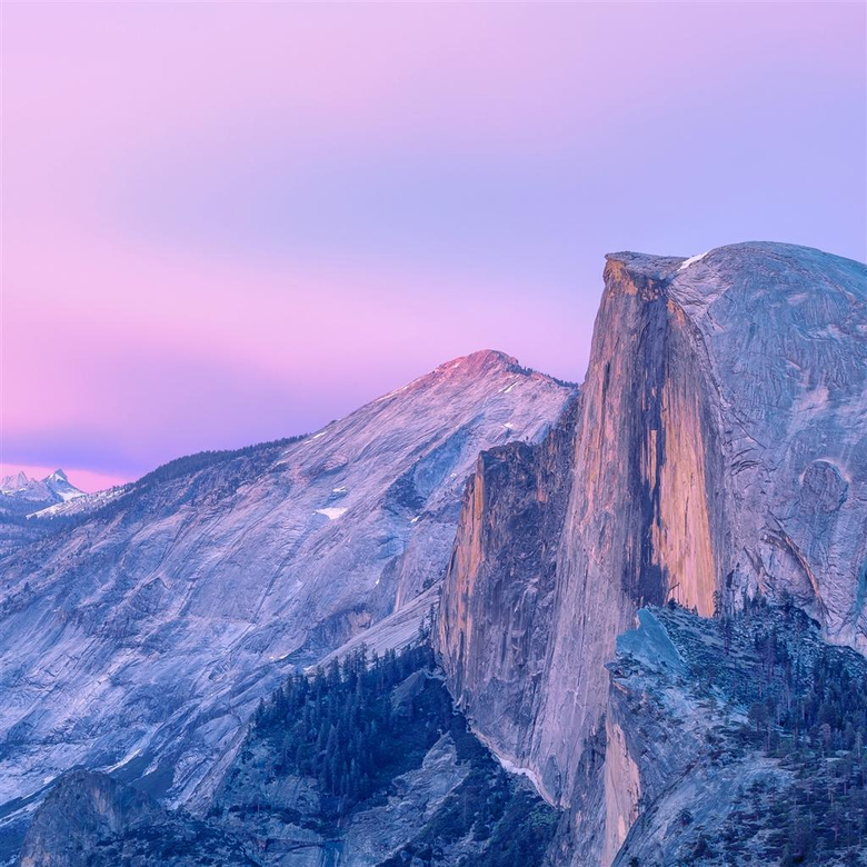 Purple Magnificent Mountains Landscape iPad Air Wallpapers