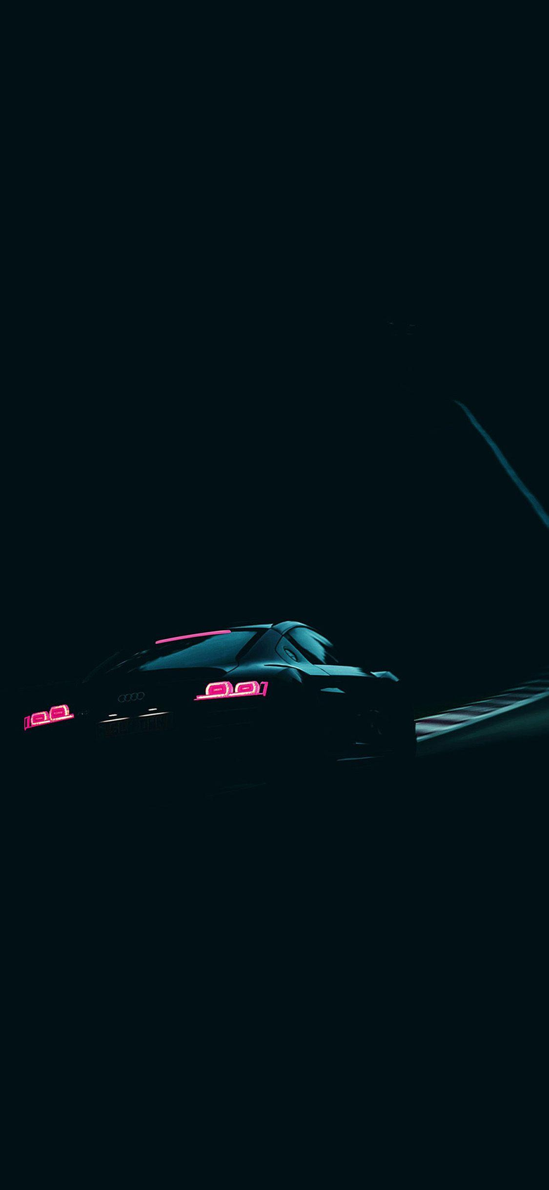 Audi blue car 2 iPhone XS and iPhone XS Max Wallpapers HD